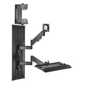 View a larger image of the Chief KWT110B All-in-One Monitor Workstation Wall Mount.