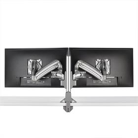 View a larger image of the Chief Kontour Slim Dynamic Column Desk Mount, 2 Monitors, Silver, KXC220S here.