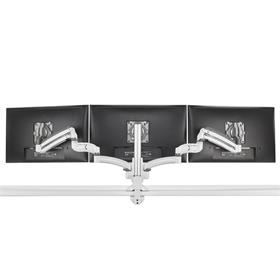 View a larger image of the Chief Kontour Slim Dynamic Column Desk Mount, 3 Monitors, White, KXC330W here.