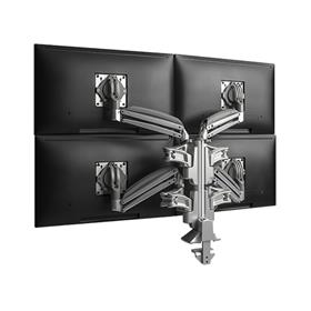 View a larger image of the Chief Kontour Slim Dynamic Column Desk Mount, 4 Monitors, Silver, KXC420S here.