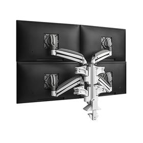 View a larger image of the Chief Kontour Slim Dynamic Column Desk Mount, 4 Monitors, White, KXC420W here.