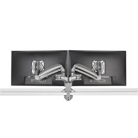 View a larger image of the Chief Kontour Slim Dynamic Desk Mount, 2 Monitors, Silver, KXD220S here.