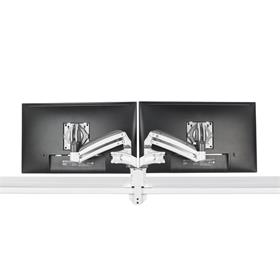 View a larger image of the Chief Kontour Slim Dynamic Desk Mount, 2 Monitors, White, KXD220W here.