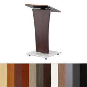 View a larger image of the Audio Visual Furniture LEXYZ20-C Modern Curved Lectern.