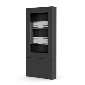 View a large image of Chief Impact Floor Kiosk (Portrait, 50 inch, Black) LF50UBP here.