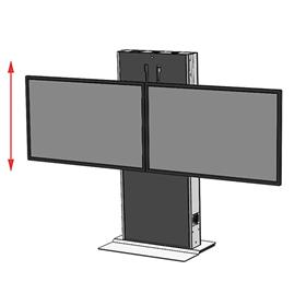 View a larger image of the Audio Visual Furniture LFT7000FS-D Dual Screen Electric Lift Stand.