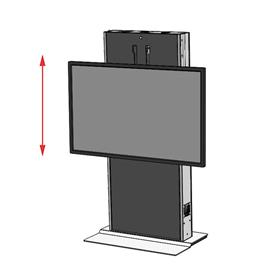 View a larger image of the Audio Visual Furniture LFT7000FS-S Large Electric Lift Stand.