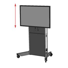View a larger image of the Audio Visual Furniture LFT7000-S Large Electric Lift Cart.