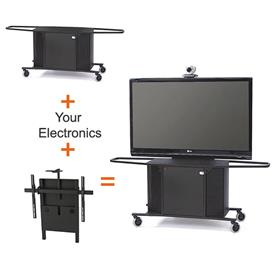 View a larger image of the Audio Visual Furniture MC1000-XL PACKAGE J Extra Large Display Cart.