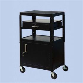 View a larger image of the VTI MDCAB4226E Mobile Cart with Locking Cabinet and Drawer (26-42 inches).