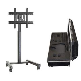 View a larger image of the Chief MFCUB700 Medium Black Flat Panel Cart with Travel Case.