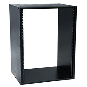 View a larger image of the Middle Atlantic Laminate Rack (16RU, 22 D, Black) BRK16-22 here.