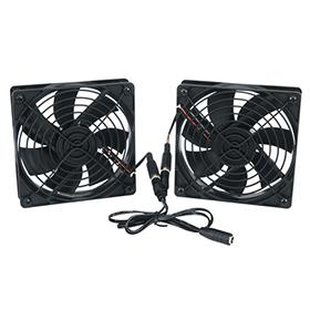 View a larger image of the Middle Atlantic DC Fan Kit (138 CFM, Thermo Controller) FAN2-DC-FC here.
