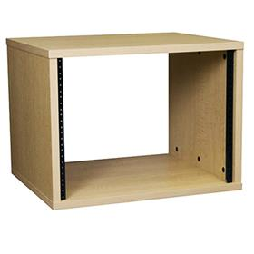 View a larger image of the Middle Atlantic Laminate Rack (8RU, 18 D, Maple) MBRK8 here.
