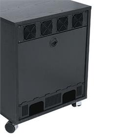 View a larger image of the Middle Atlantic Laminate Rear Access Panel (16RU, Black) RK-RAP16 here.