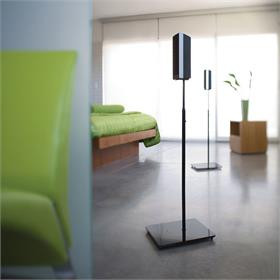 View a larger image of the OmniMount ELO Adjustable Height Satellite Speaker Stands (26-36 inch).
