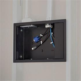 View a larger image of the Chief PAC525F-G TAA Compliant In-Wall Storage Box with Flange.
