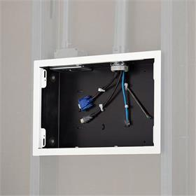 View a larger image of the Chief PAC525FW In-Wall Storage Box with White Flange.