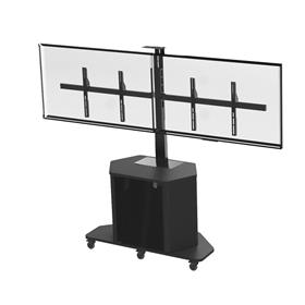 View a larger image of the Audio Visual Furniture Large Dual Display Cart (14 RU) PL3070-D.