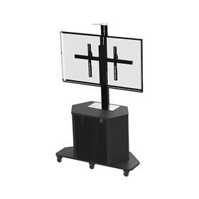 View a larger image of the Audio Visual Furniture Large Single Monitor Cart (14 RU) PL3070-S.