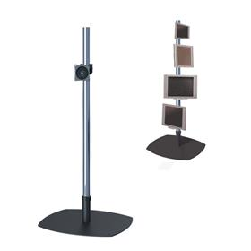 View a larger image of the Premier Mounts - PSP-72 - Single 72 in. Chrome Pole Floor Stand for Small to Mid Size Screens.