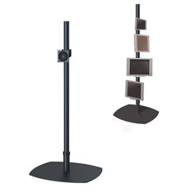 View a larger image of the Premier Mounts PSP-72B Single 72 inch Black Pole Floor Stand for Small to Mid Size Screens.