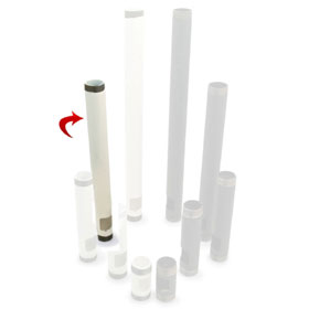 View a larger image of the PWH-24W 24 inch White NTP Pipe with Cable Outlet.