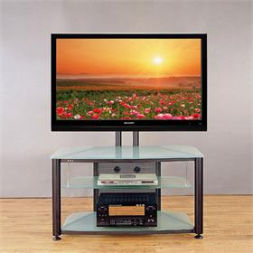 View a larger image of the VTI RFR403BF RFR Series TV Stand with Mount (Black Frame Frosted Glass).