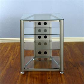 View a larger image of the VTI RGR404SW RGR Series 4 Shelf AV Rack (Silver Frame Clear Glass).