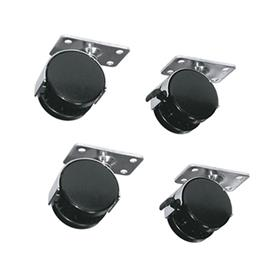 View a larger image of the Middle Atlantic Laminate Rack Casters (Set of 4) RKW here.