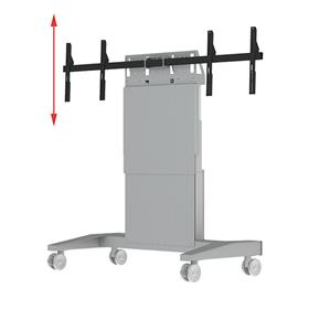 View a larger image of the Audio Visual Furniture SYZ90-D Mobile Dual Display Lift for Large Screens.