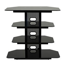 View a larger image of the TransDeco Multifunction Audio Stand for 22-35 Flat Screen TVs (Black) TD510CB here.