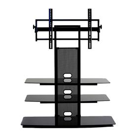 View a larger image of the TransDeco Black Glass TV Stand for 32-80 inch Screens TD550HB here.