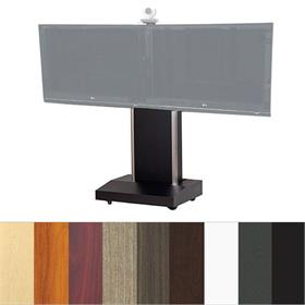 View a larger image of the Audio Visual Furniture TP1000-D Telepresence Dual Display Cart.