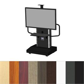 View a larger image of the Audio Visual Furniture TP1200-S Large Mobile Telepresence Cart here.
