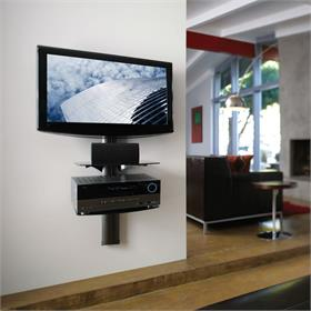 View a larger image of the OmniMount TRIA2-B Dual Glass Shelf AV Wall System.