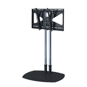 View a larger image of the TS60-MS2 60 inch Chrome Floor Stand with Tilt Mount for Large Screens.