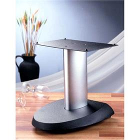 View a larger image of the VTI VSPCSB Cast Iron Center Channel Speaker Stand (13 inch Silver and Black).