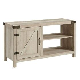 Walker Edison 44 in. Asymmetrical Barn Door Farmhouse TV Stand (White Oak) W44BD1DWO