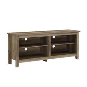 Walker Edison 58 in. Simple Wood TV Stand (Rustic Oak) W58CSPRO