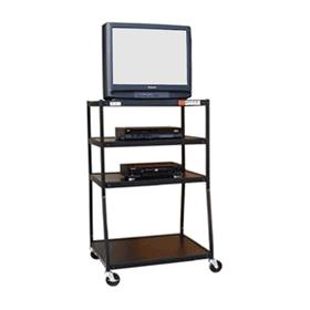 View a larger image of the VTI WBC54E-4S 4 Shelf Wide Body TV Cart (55 inch High).