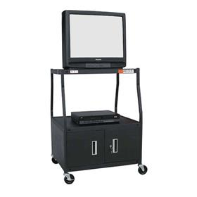 View a larger image of the VTI WBCAB44E Wide Body TV Cart with Cabinet (44 inch High).