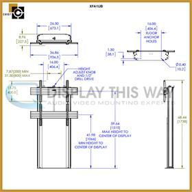 Chief Xfa1ub Fusion Xl Manual Height Adjustable Floor