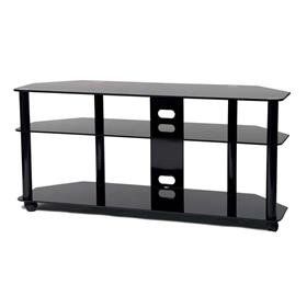 View a larger image of the TransDeco High Gloss Black Glass 60 inch TV Stand with Casters TD255B here.
