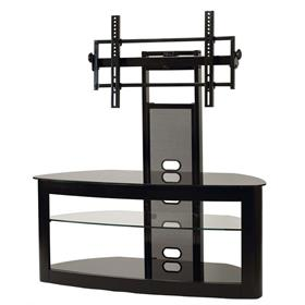 View a larger image of the TransDeco Glass TV Stand with Mount for 35 to 80 inch Screens (Black) TD600B here.